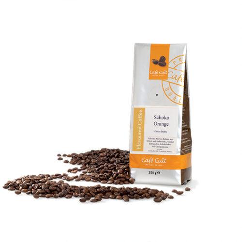 Narancsos csoki ízesítésű Arabica blend szemes ízesített kávé