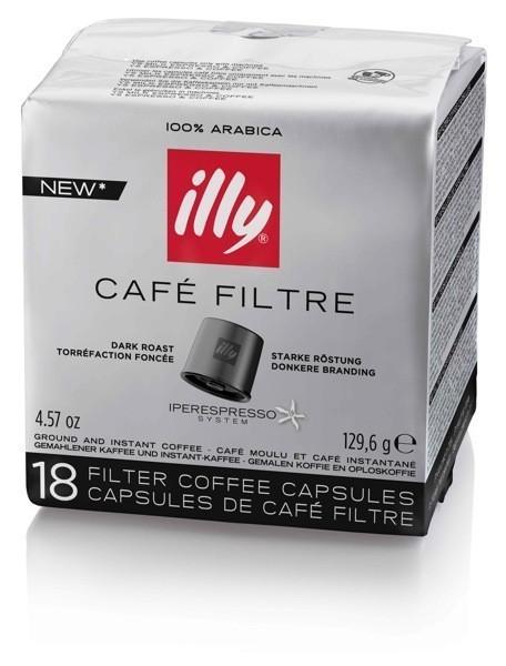 Illy kávé iper sötét pörkölésű filterkávé kapszula