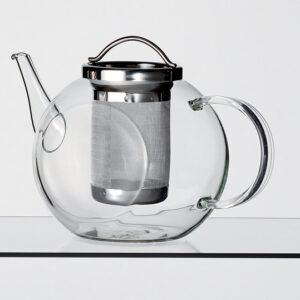 Üveg teáskanna extra nagy teaszűrővel
