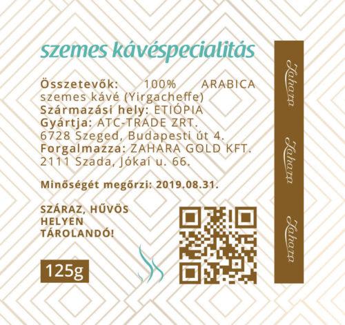 Zahara Etiópia kézműves single origin szemes kávé