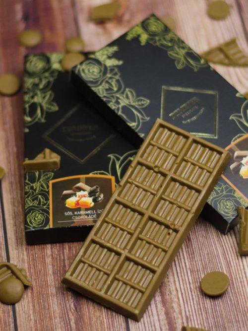 sóskaramellás táblás tejcsokoládé kézműves csokoládé kézműves csoki