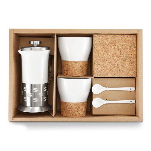 Coffee Set porcelán kávés szett kávés bögre ajándékdoboz ajándék kávés csésze