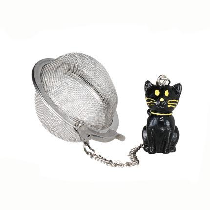 Fekete macskás teatojás, teaszűrő