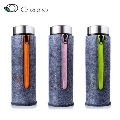 Duplafalú üveg termosz kulacs tea szűrővel - hordozható teakészítő