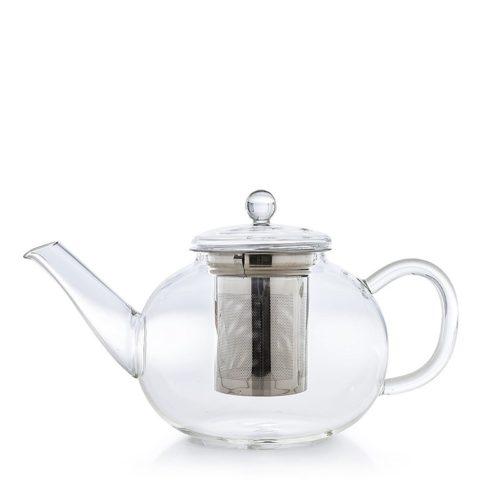 Üveg teáskanna szűrővel