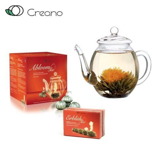 Virágzó tea szett - fehér tea