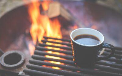 Kávékaland a kempingezés alatt
