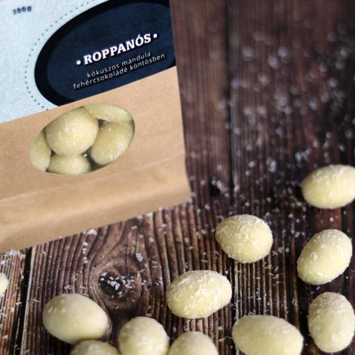 Zahara Roppanós csokidrazsé - kókuszos mandula tejcsokoládé köntösben