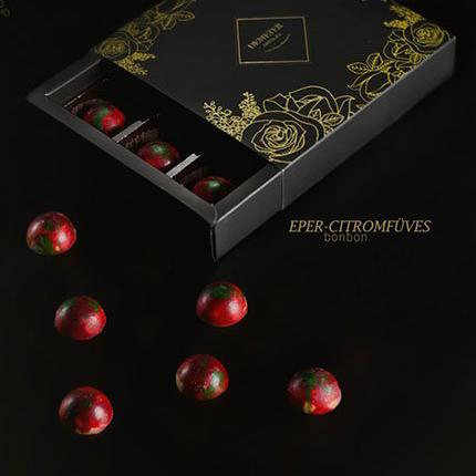 Epres - citromfüves kézműves csokoládé bonbon ajándék Nőknek
