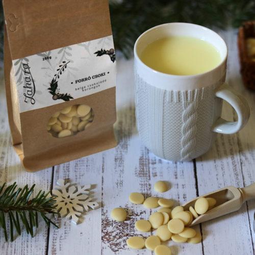 Karácsonyi forró csoki pasztilla és kötött pulcsis bögre - szürke / fehér teás, kávés bögre - karácsonyi bögre