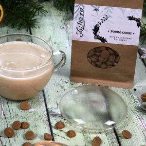 Karácsonyi ajándékcsomag - karácsonyi forró csoki és üveg csésze