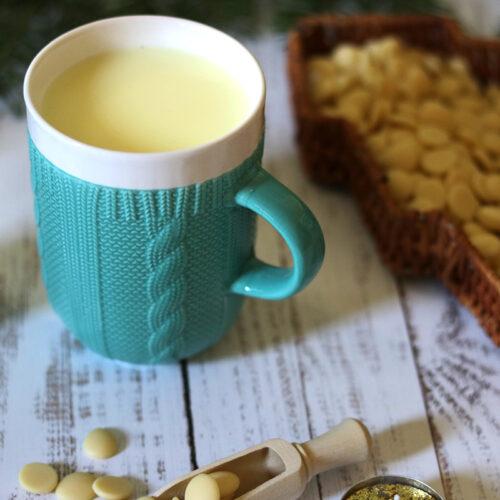 Kötött pulcsis bögre - világos pasztell kék teás, kávés bögre - karácsonyi bögre