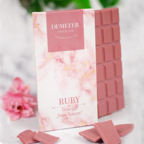 Ruby csokoládé - táblás kézműves csokoládé - Demeter