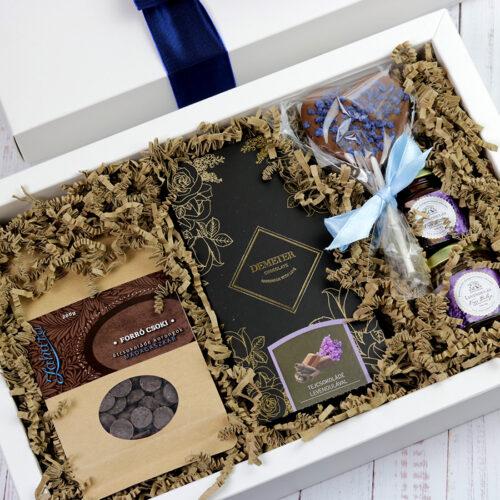 Levendula - csokoládé ajándékcsomag nőknek