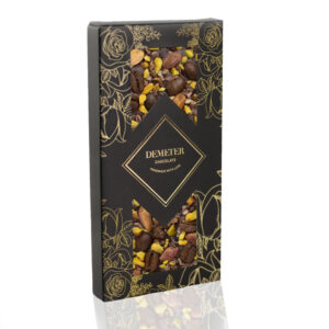 Kézműves csokoládé prémium kézműves étcsoki kávéval pisztáciával Demeter csoki