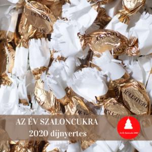 Az Év Szaloncukra sós karamellás Demeter kézműves szaloncukor - Demeter kézműves szaloncukor arany sárga - bronz barna