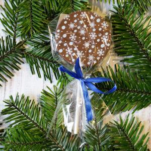 Karácsonyi csokinyalóka hópelyhes