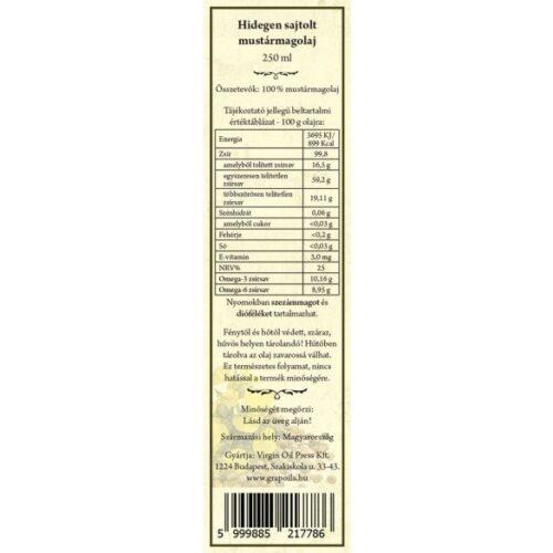 hidegen sajtolt mustármagolaj grate taste nyertes olaj kézműves termék a grapoilától