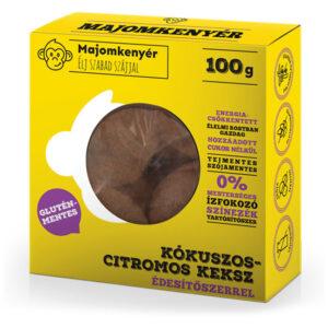kézműves keksz teasütemény ajándék keksz egészséges keksz majomkenyér gluténmentes kókuszos citromos keksz