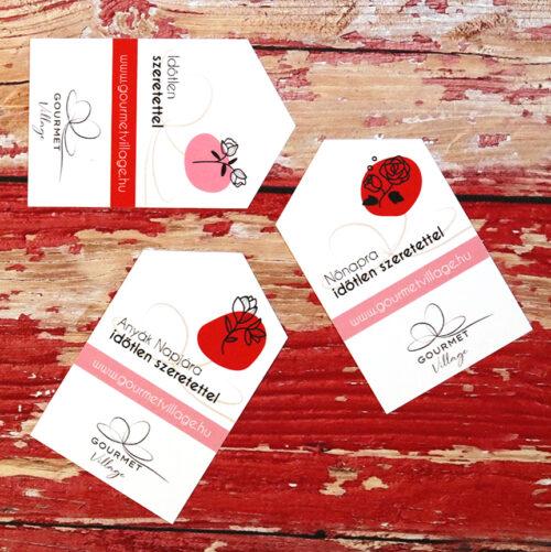 Ajándékkártya, üdvözlőkártya Valentin napra, Nőnapra és Anyák napjára