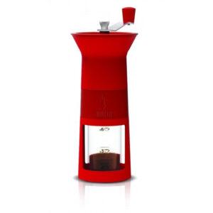 bialetti kézi kávédaráló kávéőrlő piros ajándék nőknek kávéajándék