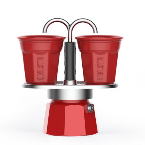 bialetti mini express kotyogós kávéfőző szett piros