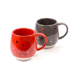 Grayson design teás, kávés bögre szett - piros és szürke