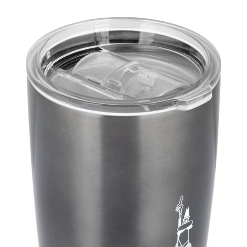 Acél Termosz pohár, kávés, teás termosz bögre - Bialetti szürke