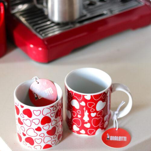 Bialetti szív kávés bögre szett