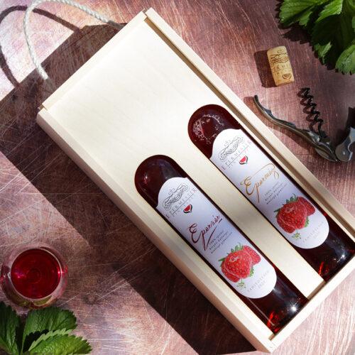 Epermester eperbor gyümölcsbor válogatás fadobozban