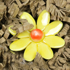 Kerámia virág - sárga margaréta szál